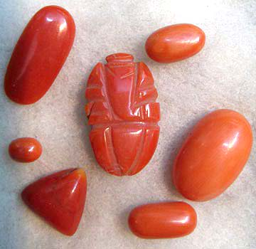 Coral Cabochons, Gemstone Cabochons