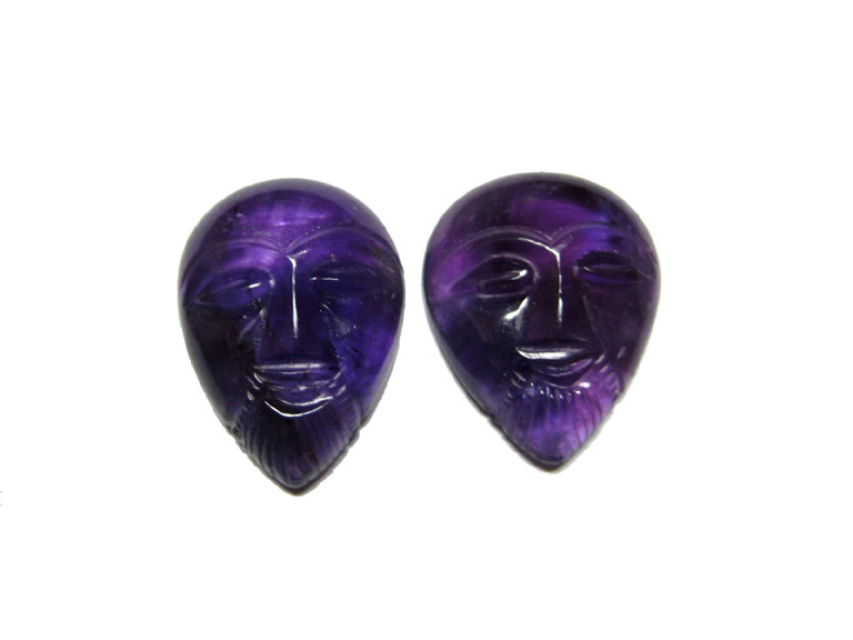 Alien Face Carvings, Gemstone Carvings