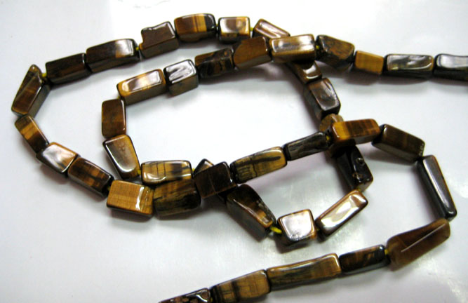 Tiger Eye Square Bead Strands