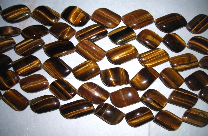 Tiger Eye Plain Beads Strands