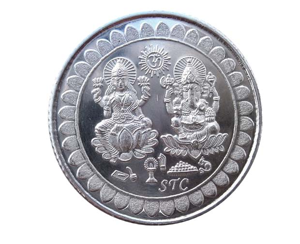 5 grams Pure Silver Coin Lakshmi Ganesh ji Coin for This Auspicious Diwali